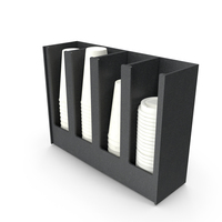 Compartment Coffee Condiment Holder PNG & PSD Images