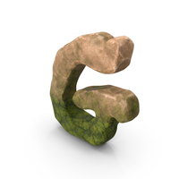 G Letter Mossy Rock PNG & PSD Images