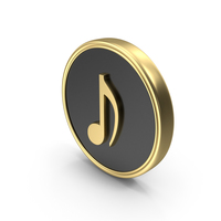 Eighth Note Music Coin Symbol Logo Icon PNG & PSD Images