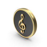 G Clef Music Coin Symbol Logo Icon PNG & PSD Images