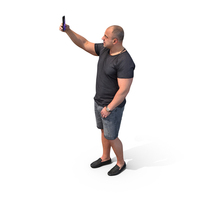 Tourist Taking Selfie PNG & PSD Images