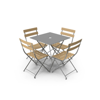 Fermob Bistro Table Chair PNG & PSD Images