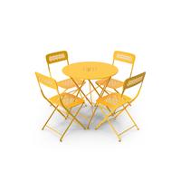 Fermob Lorette Chair Table Set PNG & PSD Images