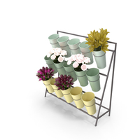 Flower Bucket Display Stand PNG & PSD Images
