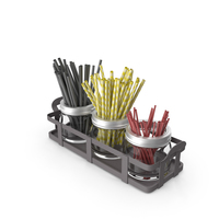 Jar Straw and Stick Holder PNG & PSD Images