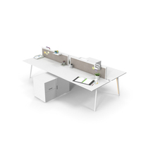 Office Workstation Desks PNG & PSD Images