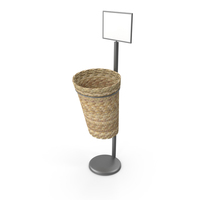 Oval Willow Basket Display Rack PNG & PSD Images