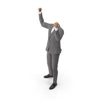 Success Hands Up Suit PNG & PSD Images