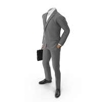 Hands In Pocket Suit With Bag PNG & PSD Images
