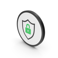 Icon Shield Lock Green PNG & PSD Images