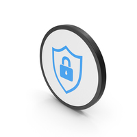 Icon Shield Lock Blue PNG & PSD Images