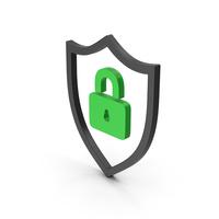Symbol Shield Lock Green PNG & PSD Images