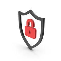 Symbol Shield Lock Red PNG & PSD Images