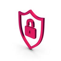 Symbol Shield Lock Metallic PNG & PSD Images