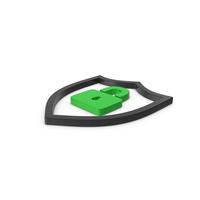 Green Symbol Shield Lock PNG & PSD Images
