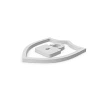 Shield Lock Symbol PNG & PSD Images