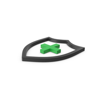 Green Symbol Medical Shield PNG & PSD Images