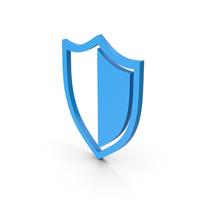 Symbol Shield Blue PNG & PSD Images