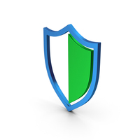 Shield Green Blue Metallic PNG & PSD Images