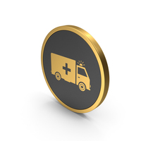 Gold Icon Ambulance PNG & PSD Images