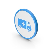 Icon Ambulance Blue PNG & PSD Images