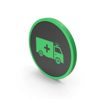 Icon Ambulance Green PNG & PSD Images