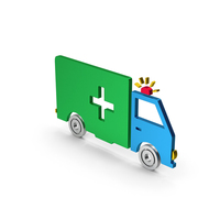Ambulance Colored Metallic PNG & PSD Images