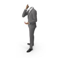 Talking Phone Argues Suit Grey PNG & PSD Images