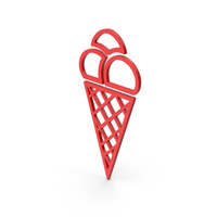 Symbol Ice Cream Red PNG & PSD Images