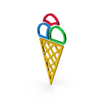 Ice Cream Colored Metallic PNG & PSD Images