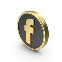 Social Media Facebook Coin Icon PNG & PSD Images