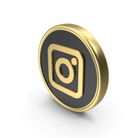 Social Media Instagram Coin Icon PNG & PSD Images