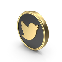 Social Media Twitter Coin Icon PNG & PSD Images