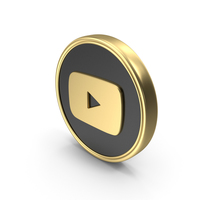 Social Media YouTube Coin Icon PNG & PSD Images