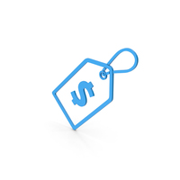 Symbol Label With Dollar Blue PNG & PSD Images