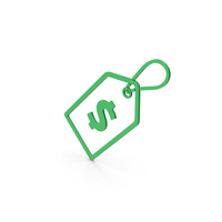 Symbol Label With Dollar Green PNG & PSD Images
