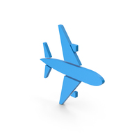 Symbol Air Plane Blue PNG & PSD Images