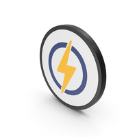 Icon Electricity Yellow PNG & PSD Images