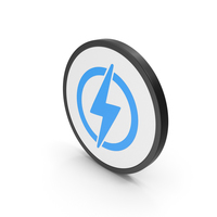 Icon Electricity Blue PNG & PSD Images