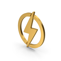 Symbol Electricity Gold PNG & PSD Images