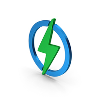 Electricity Green Blue Metallic PNG & PSD Images