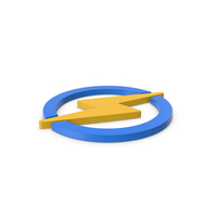 Yellow Symbol Electricity PNG & PSD Images