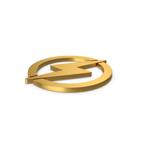 Gold Symbol Electricity PNG & PSD Images