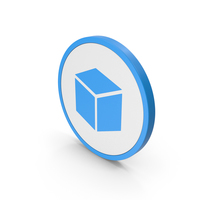 Icon Cube Blue PNG & PSD Images