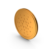 Cardano ADA Gold Coin PNG & PSD Images