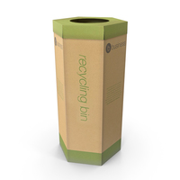 Cardboard Recycling Bin PNG & PSD Images