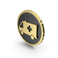 Logo Ambulance Gold PNG & PSD Images