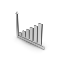 Symbol Graph Silver PNG & PSD Images