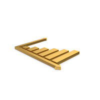 Gold Graph Symbol PNG & PSD Images