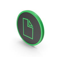 Icon Electronic File Green PNG & PSD Images